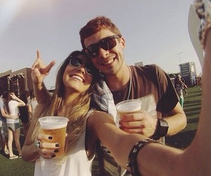 beer, couple, and party image