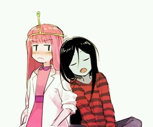 adventure time, marceline, and princess bubblegum image
