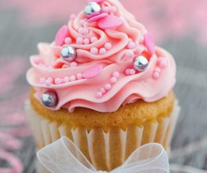 cream, cupcake, and food image