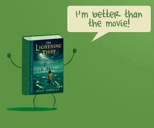 book, movie, and percy jackson image