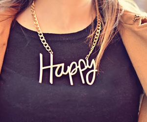 happy, fashion, and necklace image