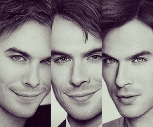 drawing, damon, and ian somerhalder image