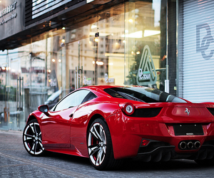 car, red, and ferrari image