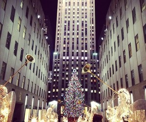 christmas, city, and lights image