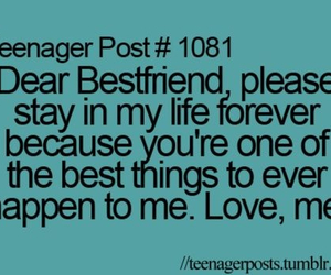 best friends, forever, and quote image