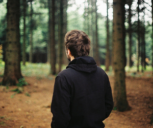 boy, forest, and photography image