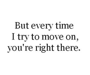 love, quote, and move on image