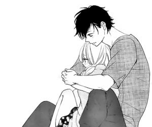 love, hug, and manga image