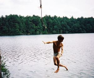 boy, nature, and summer image