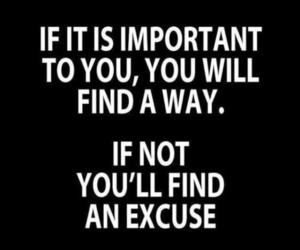 quotes, important, and excuse image