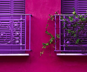 purple, pink, and house image