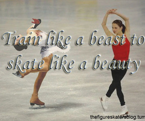 beast, beauty, and figure skating image