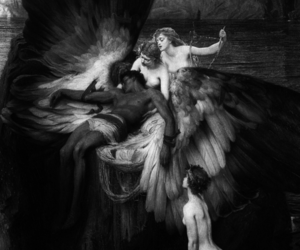 art, angel, and icarus image