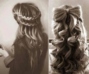 bow, girl, and hair style image