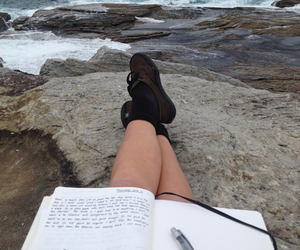sea, book, and ocean image