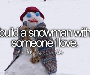 snowman and love image