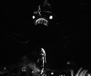 black and white, Lady gaga, and the fame monster image