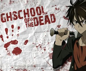 anime, hotd, and highschoolofthedead image