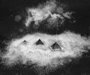 art, galaxy, and pyramids image