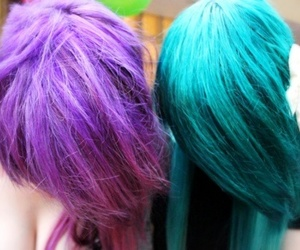 dyed hair, hair color, and hair colors image