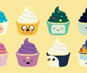 cupcakes, adventure time, and cute image