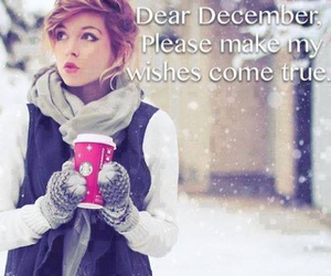 december, winter, and wish image