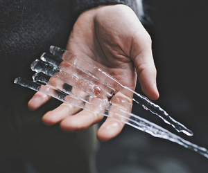 ice, cold, and hand image
