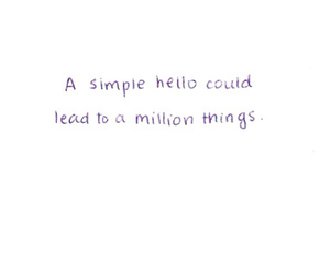 quote, love, and hello image
