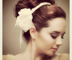 bride, girl, and hairstyle image