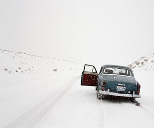 car, snow, and winter image