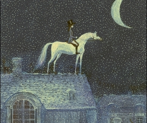 horse, moon, and stars image