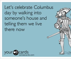 funny, columbus, and columbus day image