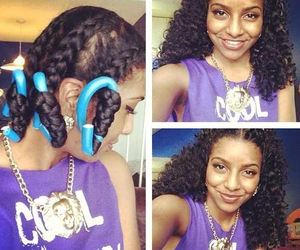 braid out, protective style, and youtuber image