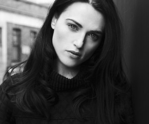 katie mcgrath and black and white image