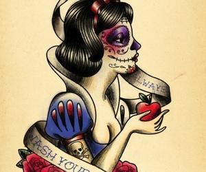 snow white, tattoo, and disney image