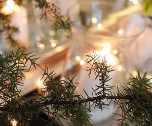 candle, christmas lights, and christmas image