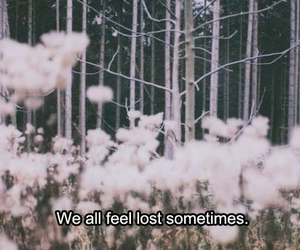 lost, quotes, and flowers image