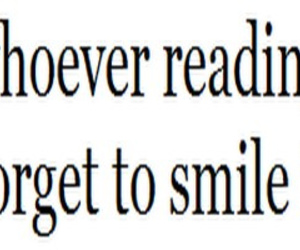 quote, smile, and typography image