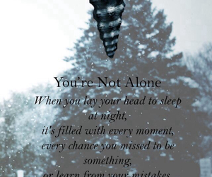 of mice and men, you're not alone, and Lyrics image