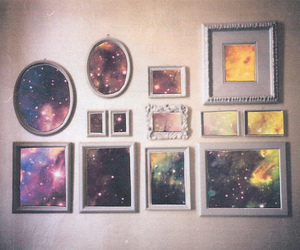 galaxy, frame, and space image