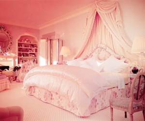 bedroom, photography, and pink image