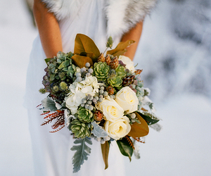 bouquet, christmas, and wedding image