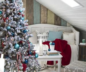 christmas, decorations, and den image