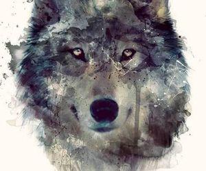 wolf, art, and animal image