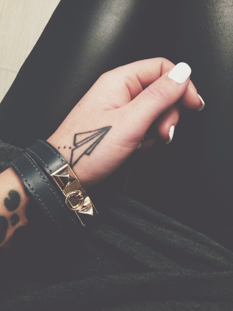 Paper Airplane Tattoo Uploaded By Lala Land On We Heart It