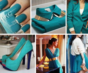 clothes, nails, and dress image