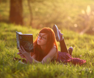 girl, harry potter, and book image