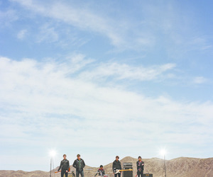 band, desert, and sky image