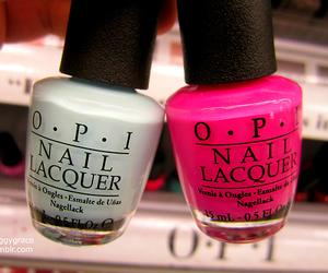opi, nails, and pink image