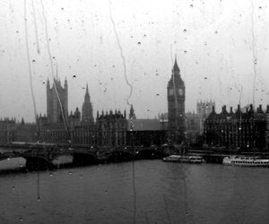 london, rain, and Big Ben image